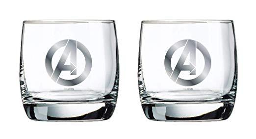 Marvel Whiskey Glass Set - Avengers Logo