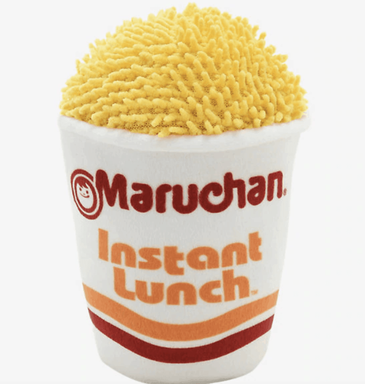Maruchan Instant Lunch Cup Squeaky Plush Dog Toy - BoxLunch Exclusive