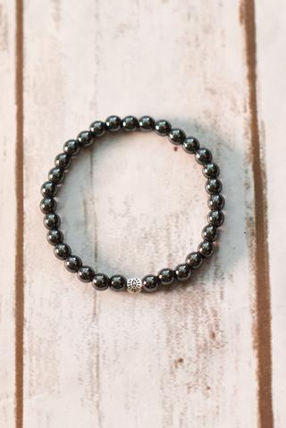 100 Percent Beads Unisex Hematite Bracelet