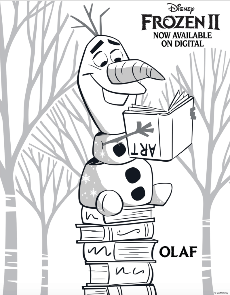 frozen 2 coloring page