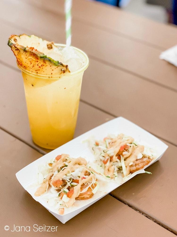 grilled shrimp tacos disneyland food and wine festival