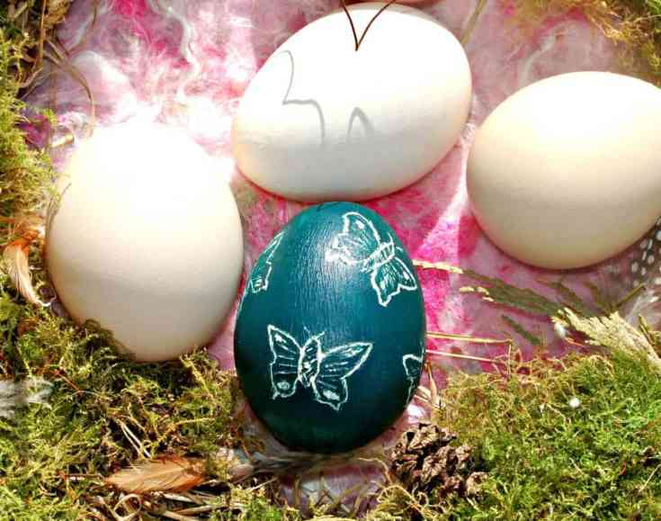 How to Make Beautiful Sgraffito Decorated Eggs