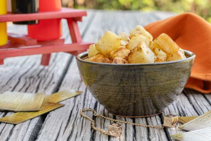 "Han's ""Dice""-d Potatoes"