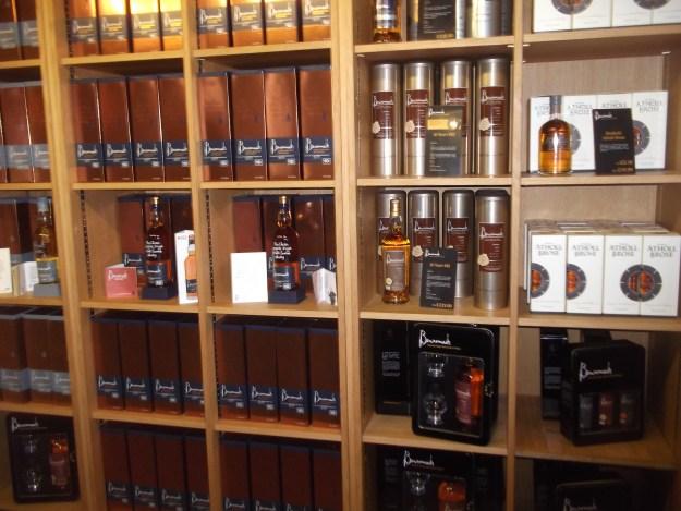 Benromach distillery shop