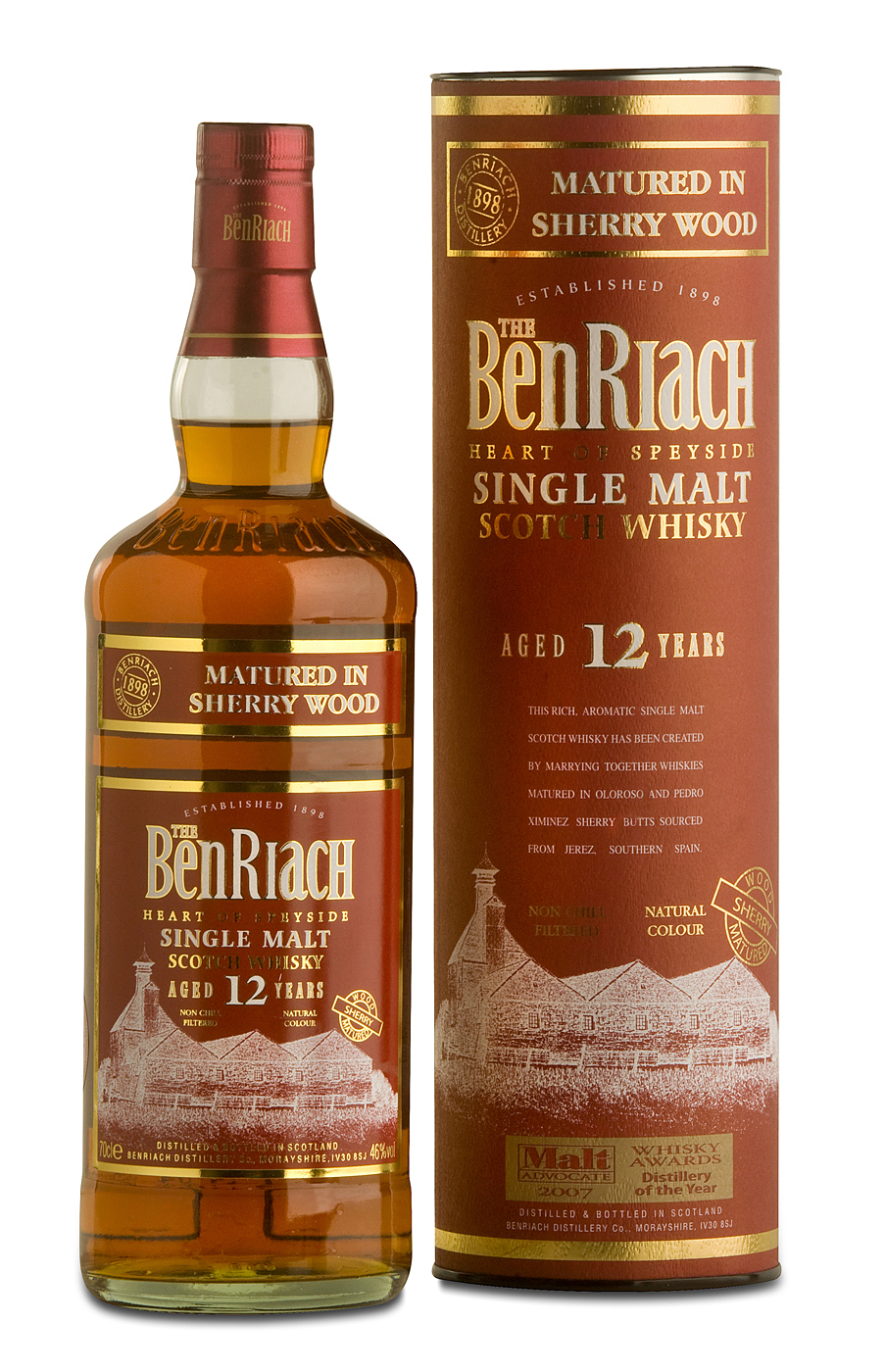 BenRiach 12 y Sherry wood Matured