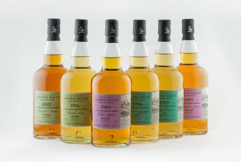 Eerste Single Cask Releases van Wemyss Malts in 2016