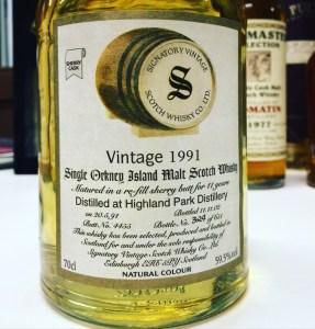Signatory Highland Park Vintage 1991