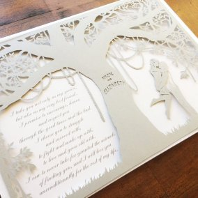 Commission Papercut Elizabeth - Layers with Shadows - Square - Whispering Paper