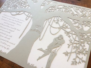 Commission Papercut Elizabeth - Layers from right - Whispering Paper