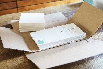 Custom Birth Announcement - Guus - Cards in Box - Whispering Paper