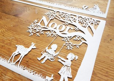 Custom Birth Announcement – Noor