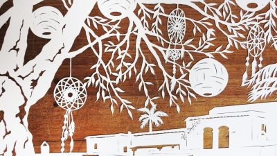 Wedding Anniversary Papercut - Ibiza - Inspiration from the Client - Detail Dreamcatchers - Whispering Paper