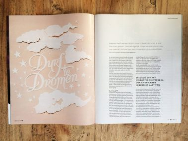 Papercut Illustrations for Libelle Magazine - Magazine - Dare to Dream - Whispering Paper