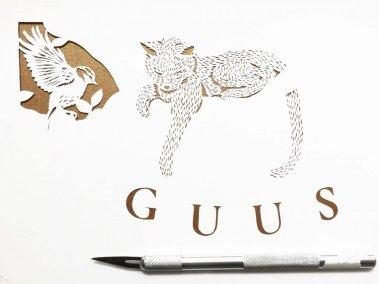 Custom Birth Announcement - Guus - Work in Progress 3 - Whispering Paper