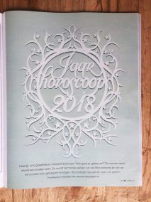 Papercut Illustrations for Libelle Magazine - Magazine - Year Horoscope - Whispering Paper