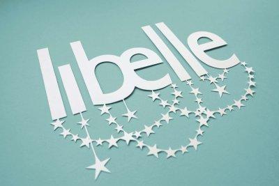 Papercut Illustrations for Libelle Magazine - Logo - whispering Paper