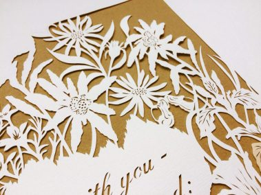Papercuts 25th Anniversary - Detail top right corner - Whispering Paper