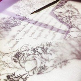 Papercut 25th Anniversary - Work in Progress - Designing on Lightbox - Whispering Paper