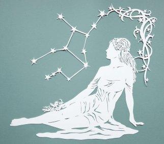 Papercut Illustrations for Libelle Magazine - Virgo - Whispering Paper
