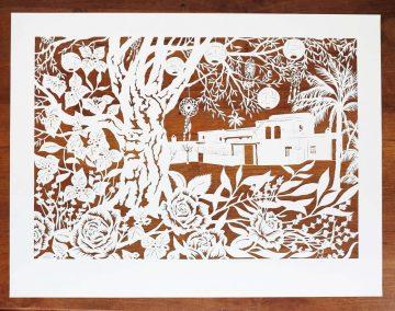 papercut chantal Wedding Anniversary Papercut - Ibiza - Total on wood - Whispering Paper