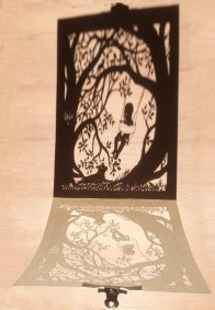 Papercut Gift for a Nanny - Papercut Shadows - Whispering Paper