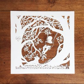 Papercut Gift for a Nanny - Total Square - Whispering Paper