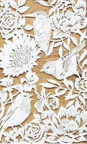 Bespoke Papercut - Flowers and Birds - Papercut - Whispering Paper