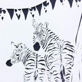 Custom Birth Announcement Cards - Stripes - Detail Zebras - Whispering Paper