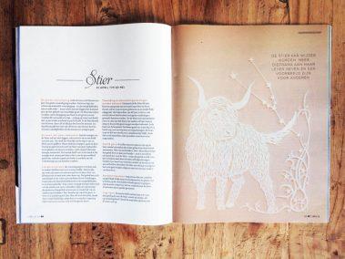 Papercut Illustrations for Libelle Magazine - Magazine - Taurus - Whispering Paper