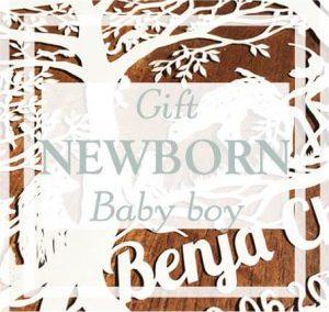 Papercut for a newborn baby boy