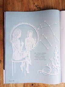 Papercut Illustrations for Libelle Magazine - Magazine - Gemini - Whispering Paper