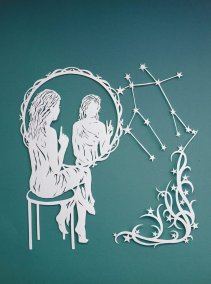 Papercut Illustrations for Libelle Magazine - Gemini - Whispering Paper