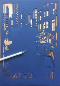 Papercut Birthday Gift - Cityscape poem - Work in Progress - Whispering Paper