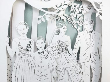 Anniversary Family Wedding - Layered Papercut - Detail Family 4 - Whispering Paper