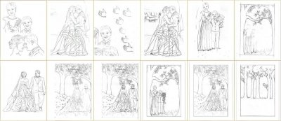 Anniversary Family Wedding – Layered Papercut – Designing Proces - Whispering Paper