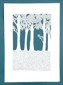 Anniversary Family Wedding - Layered Papercut - Layer 3 - Whispering Paper