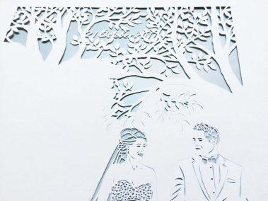 Anniversary Family Wedding - Layered Papercut - Work in Progress - Date - Whispering Paper
