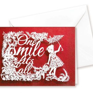 Double card - One smile - red