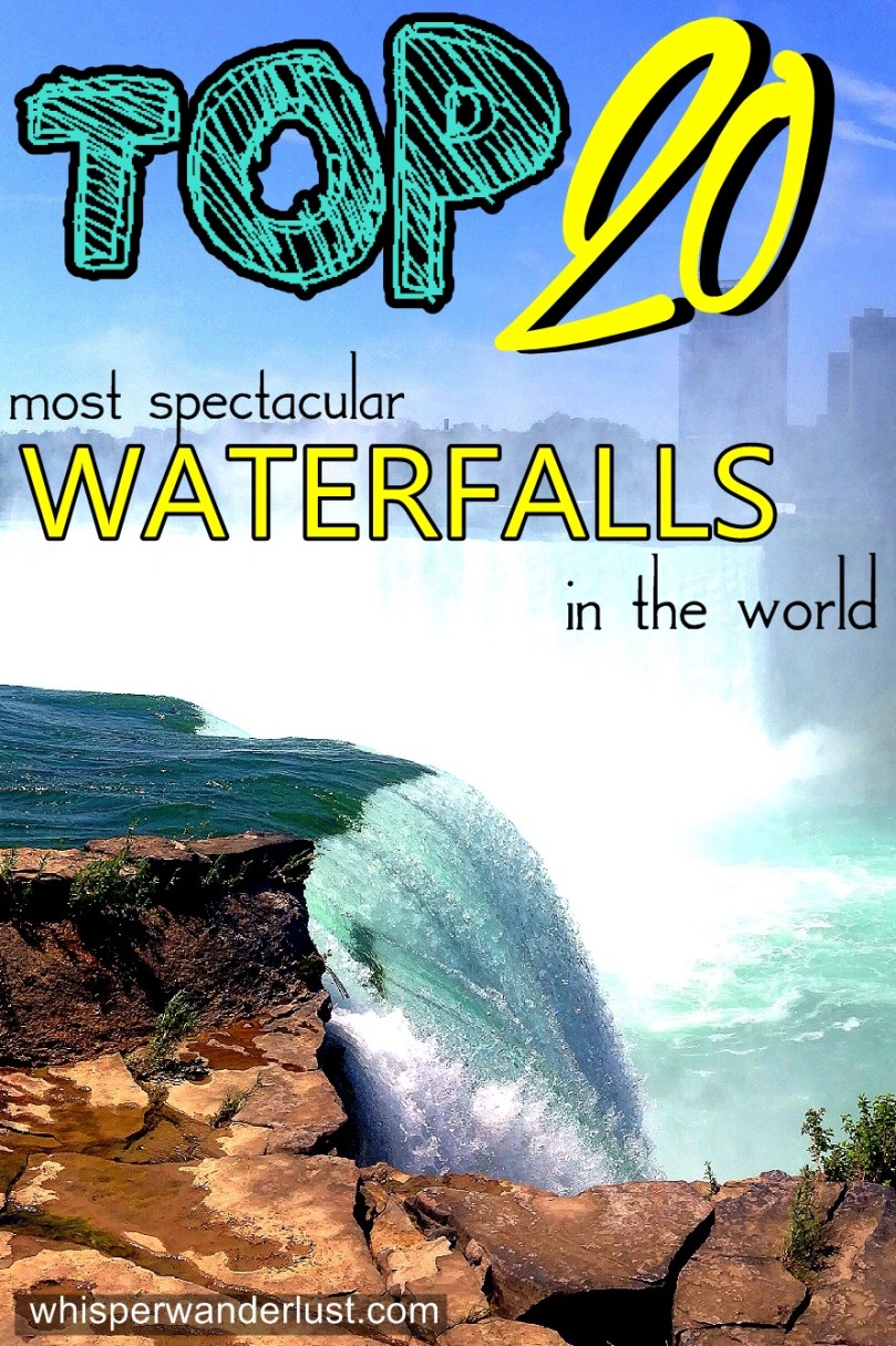 Top 20 most spectacular waterfalls