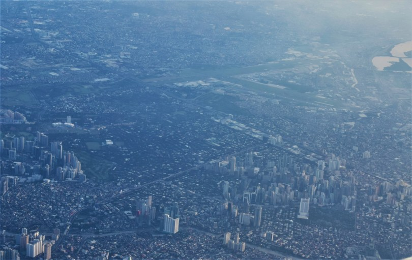 Manila, as seen from my window seat