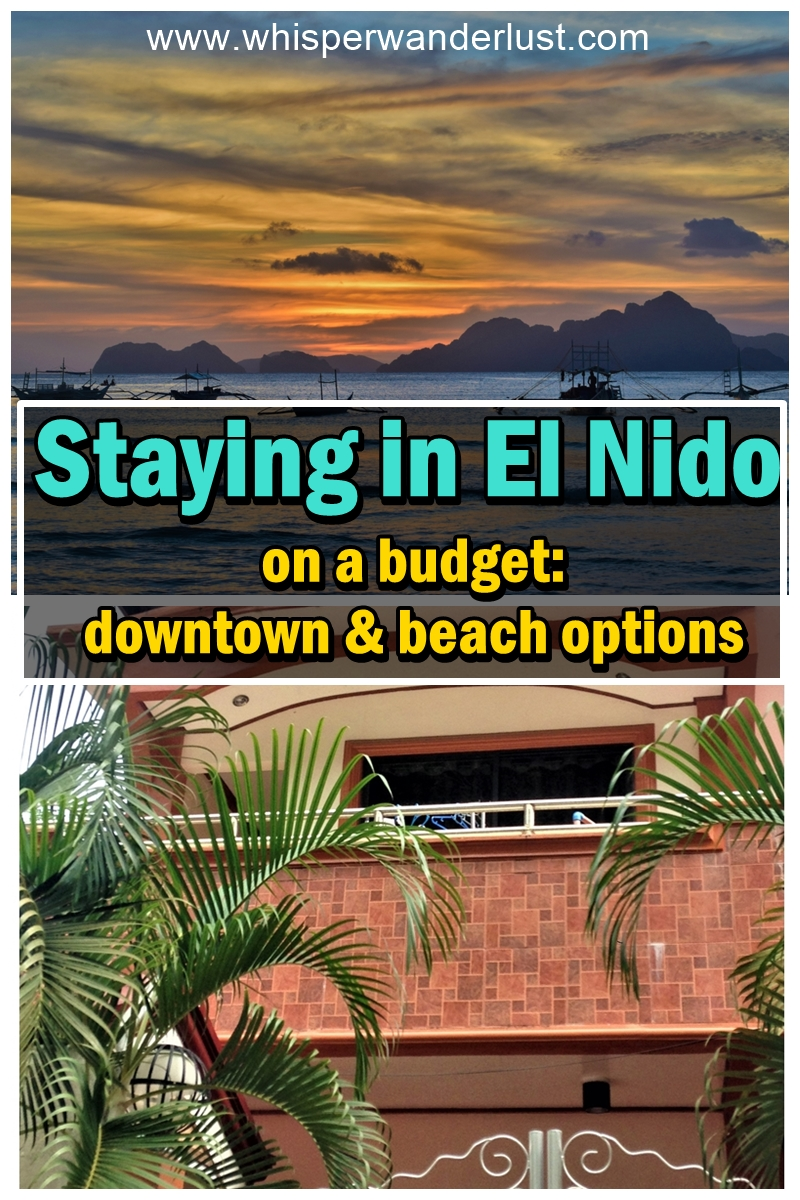 Staying in El Nido on a budget 1