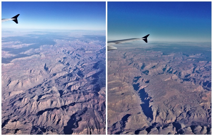 Grand Canyon as seen from the plane