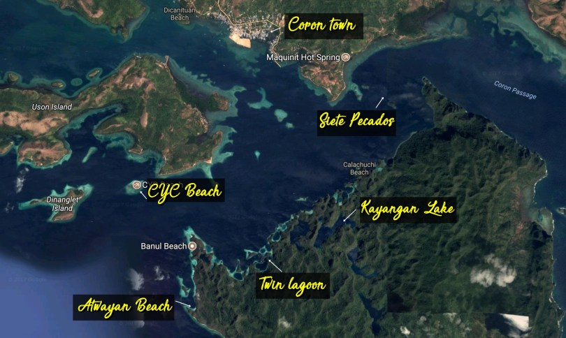 Coron Island Ultimate Tour Map
