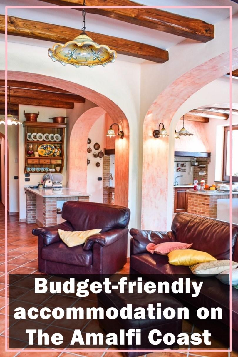 budget accommodation on Amalfi Coast Italy