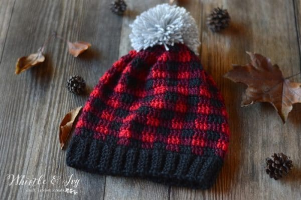 Toddler and Child Crochet Plaid Hat  Whistle and Ivy