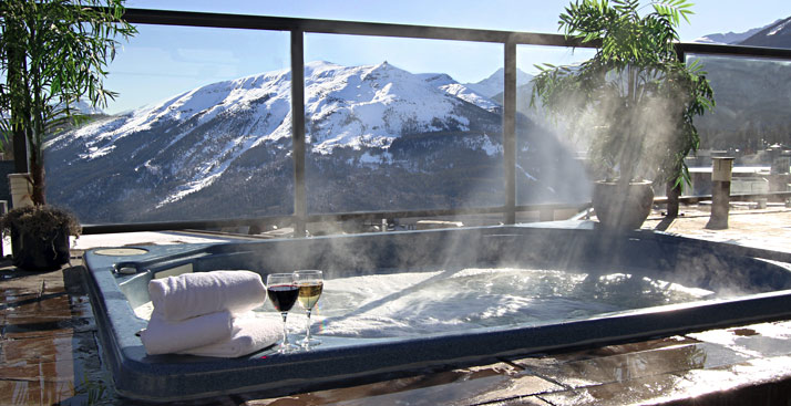 Steam Room and Hot Tub in the Canadian Rockies  Jasper