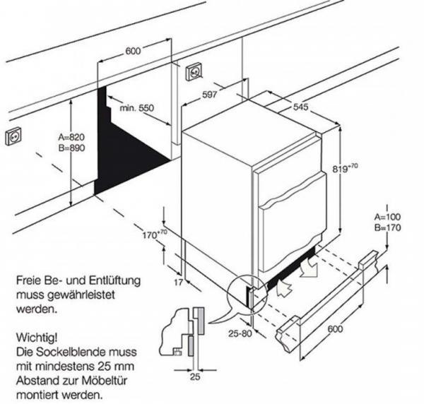 Zanussi ZQA12430DA Integrated Fridge with Ice Box