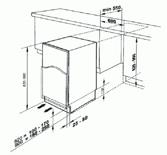 Baumatic BRUI119 Built-Under Fridge with Ice Box