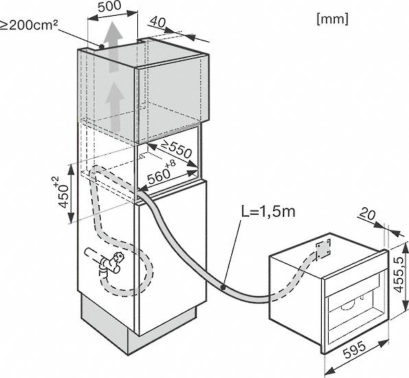 Miele CVA 6805 / CVA6805 Built-in Coffee Machine