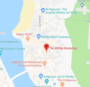 whitby bookshop location map